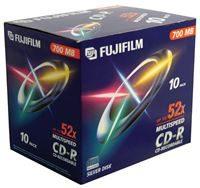 Fuji CD-R x10 700MB 52-Speed Jewel Case