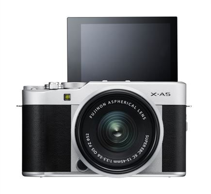 X-A5_Silver_Front_MonitorUP XC15-45mm
