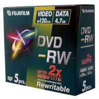 Fuji DVD-RW JEWEL CASE X 5 PACK (4.7GB 2X)