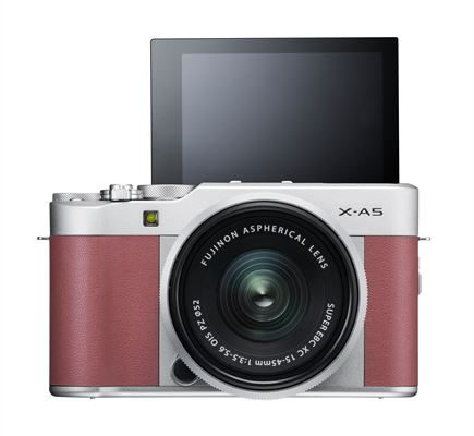 X-A5_Pink_Front_MonitorUP XC15-45mm